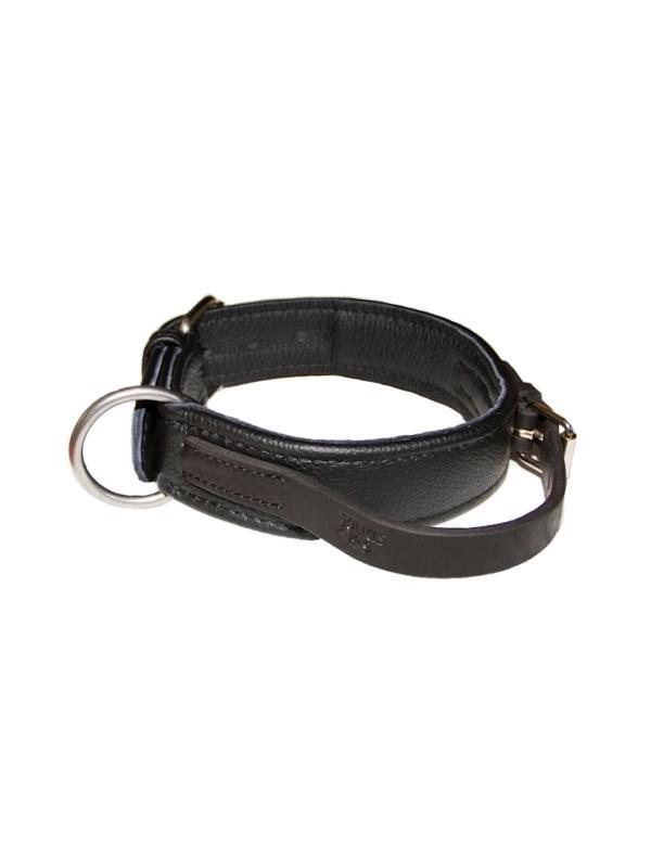Collar de cuero técnico hecho a mano Julius K9 - Con asa - Collar de cuero técnico hecho a mano, de la prestigiosa marca Julius K9, con asa para sujetar el perro. Disponible en negro,en tallas para perros de razas medianas hasta muy grandes. El típico collar para entrenar perros de ring.
