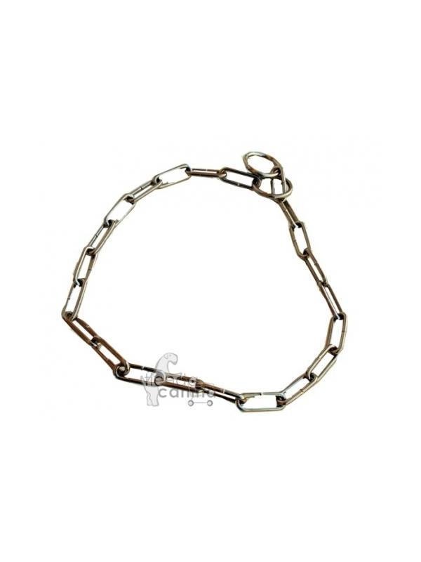 Collar de eslabón largo metálico economico - Collar metalico de adiestramiento con eslabón largo, ideal para enseñar las nociones básicas de adiestramiento a tu perro.
