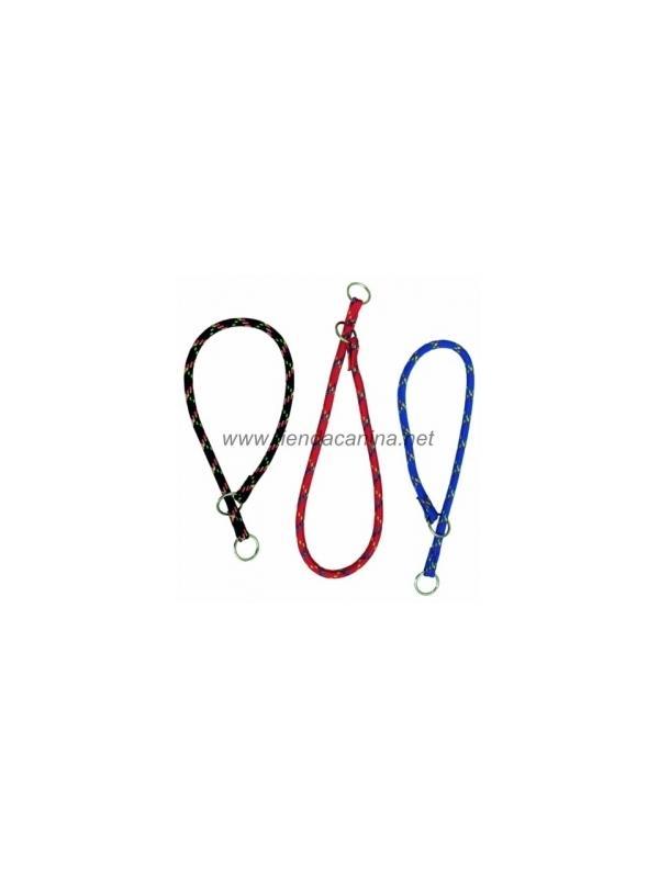 Collar de lazo de nailon grueso redondo para perros - Collar de naylon redondo grueso en forma de lazo para perros. Ideal para el adiestramiento suave de perros pequeños y grandes. Disponible en rojo, azul, azul claro, morado y negro. Tallas para perros pequeños hasta muy grandes.