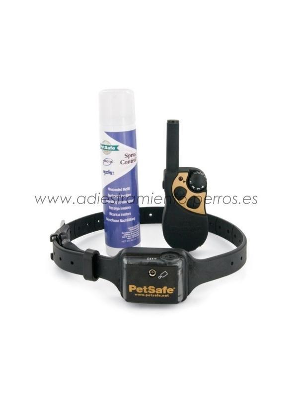 Collar Trainer spray Deluxe de adiestramiento para perros - Collar Trainer Spray Deluxe de adiestramiento con mando para perros pequeños o medianos muy sensibles con hasta 275 metros de alcance.