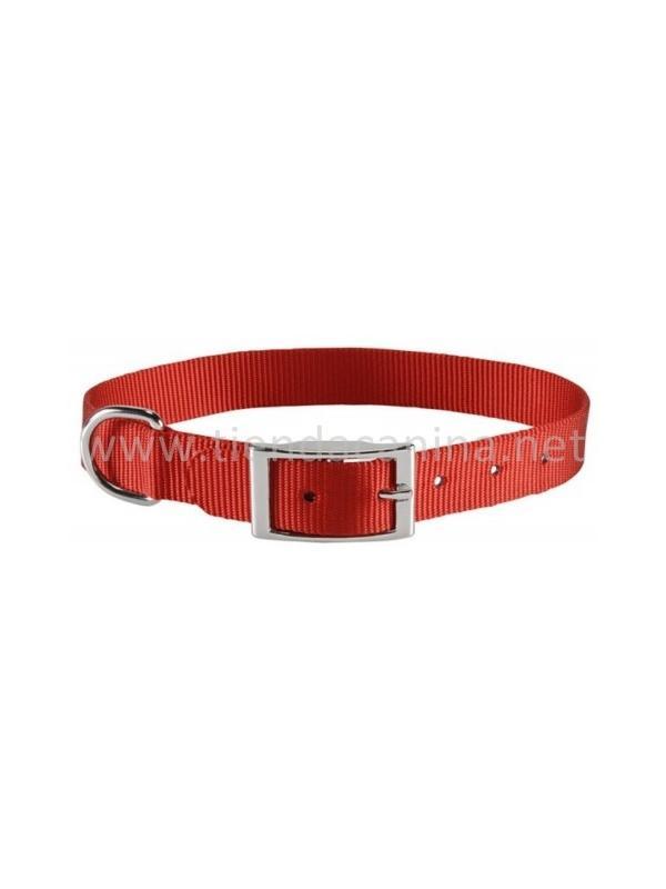 Collar de nylon con hebilla clásico - Collar clásico de nylon con hebilla metálica. Disponible en rojo, azul y negro. Para perros de todos los tamaños desde razas pequeñas hasta grandes. Adaptable a la mayoría de los collares electrónicos.