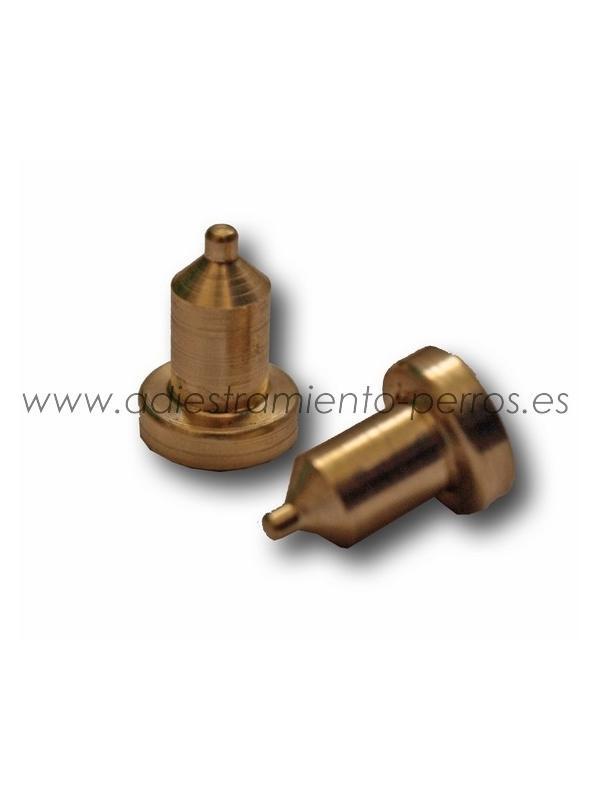 Electrodos de latón para collar Dogtra - cortos (par) - Electrodos profesionales de latón para collares de adiestramiento Dogtra. Modelo corto.
