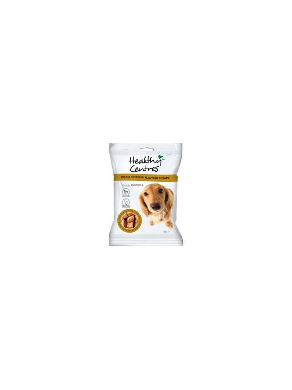 Golosinas para perros Healthy Centres sabor pollo asado - Golosinas para perros Healthy Centre sabor pollo asado. Un delicioso snack para su perro ideal como premio y como motivación a la hora del adiestramiento. Bolsa de 80 gramos.