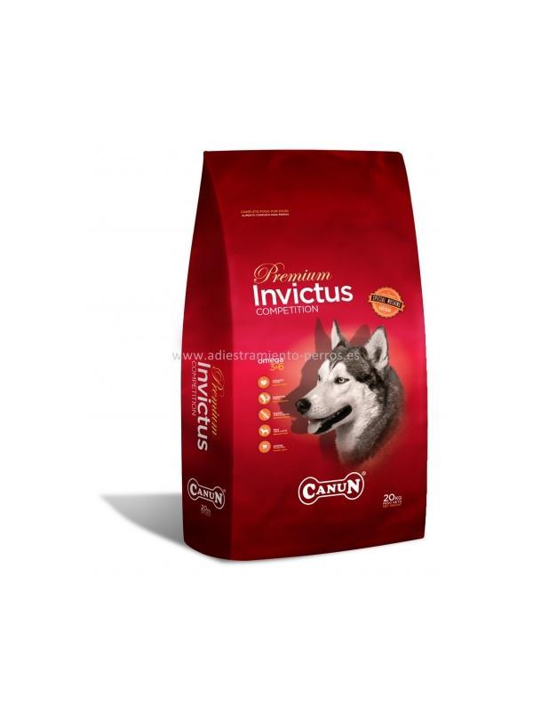 Pienso Canun Premium Invictus - Pienso para perros de la marca Canun, el Premium Invictus es ideal para perros de culquier edad con una carga de trabajo alta y prolongada. Disponible en sacos de 20 kg.