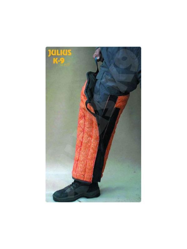 Jambiere para protección de pierna del figurante  - Jambiere para protección de la pierna del figurante. Para proteger al figurante en el trabajo de defensa el perro. Existe en modelo para cachorro y para perro adulto.