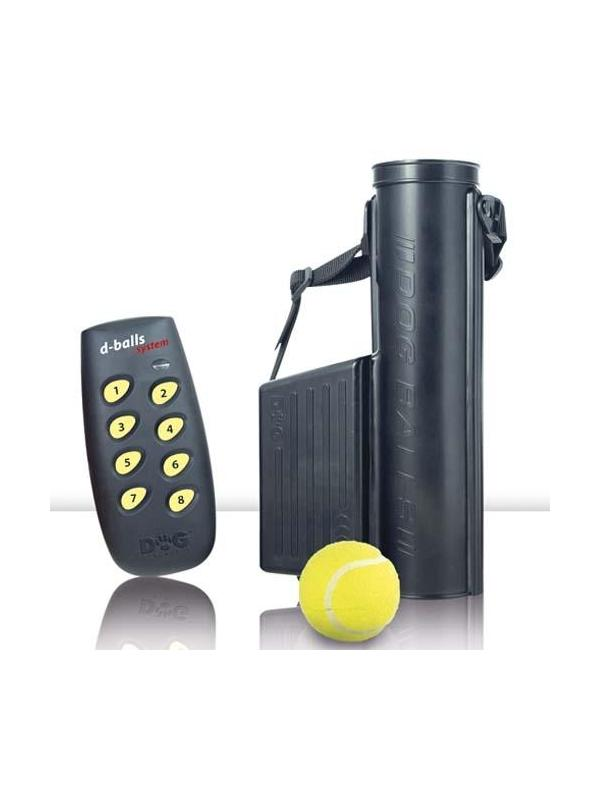 Lanzador de pelotas con mando para perros