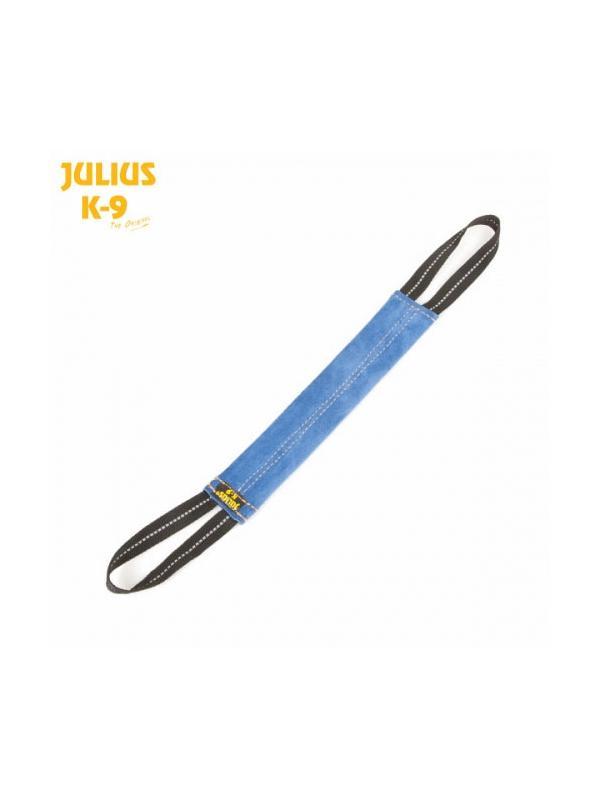 Mordedor de cuero vuelto tubular con asa Julius K9 - Mordedor para perros de cuero vuelto plano Julius K9. Al ser plano es más resbaladizo y ayuda a fijar la mordida del perro. Diferentes tamaños para todo tipo de perros.