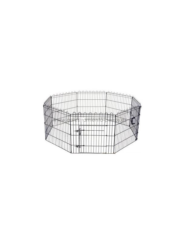 Parque plegable metálico - Parque plegable metálico de 8 paneles, ideal para cachorros o para que su perro tenga un espacio donde jugar sin tener acceso a todo el jardin o la casa.