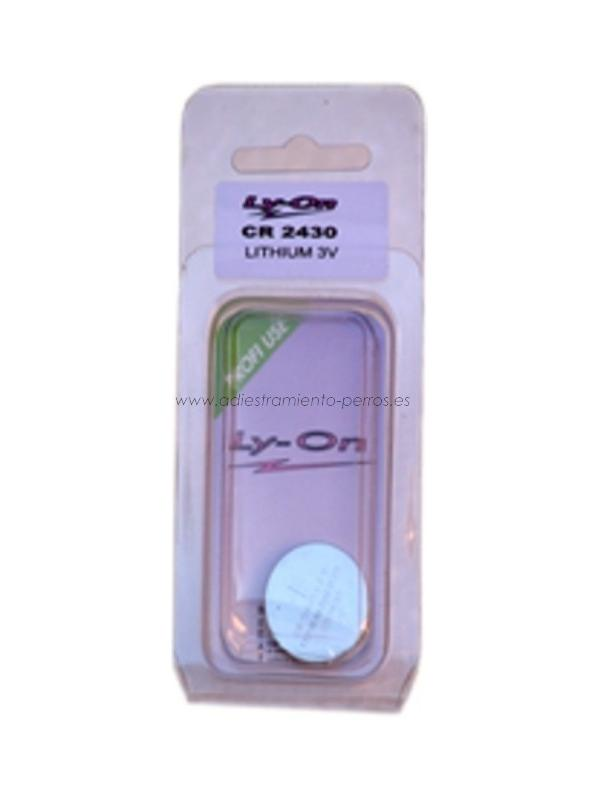 Pila litio 3V CR2430 para Mandos de Collares de adiestramiento