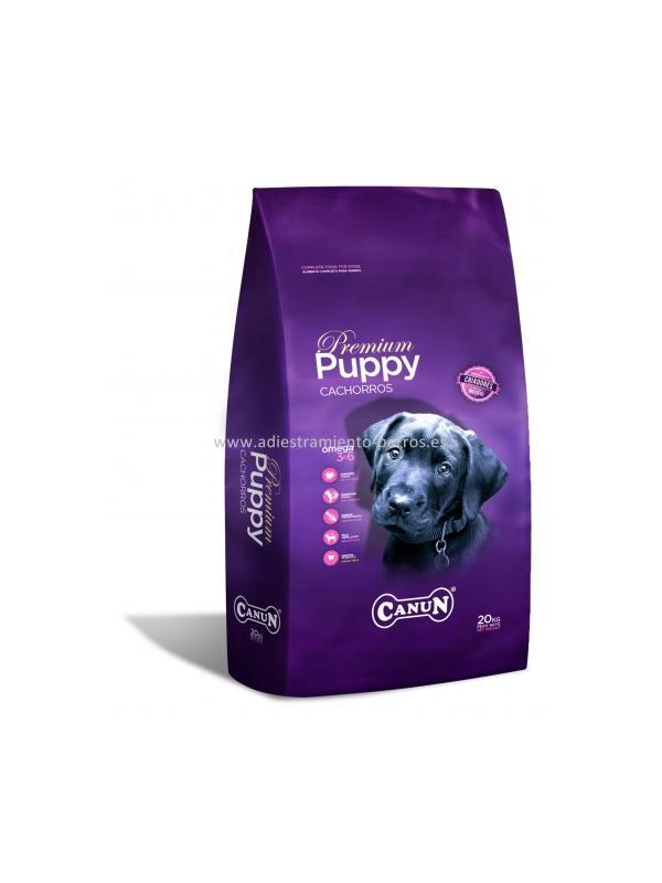 Pienso Canun Premium Cachorros Puppy - Pienso para perros de la marca Canun, el Premium Cachorros Puppy es ideal para cachorros a partir de 6 semanas hasta 12 meses y para hembras en gestación o lactación. Disponible en sacos de 4 y 20 kg.