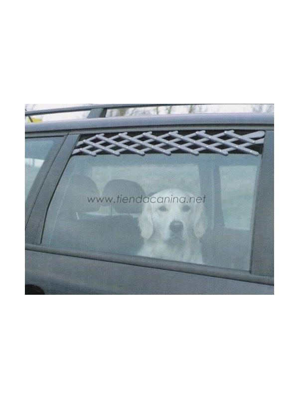 Rejilla para ventilación de ventana para coche - Parrilla de ventilación adaptable a la ventanilla de la mayoría de automoviles. Esta rejilla evitará que saque la cabeza por la ventanilla.