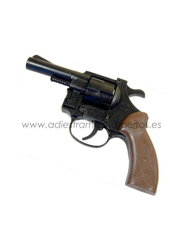 Revolver detonador 6 mm - Revolver detonador 6 mm para iniciar cachorros o para concursos de caza y RCI. Dispone de 8 tiros (8 balas en carga máxima).