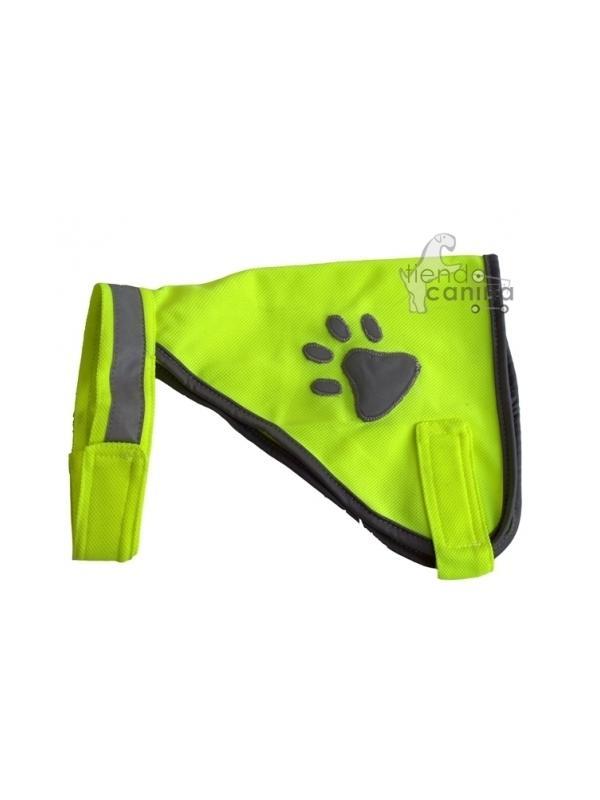 Ropa - Chaleco para perros reflectante de seguridad - Chaleco con collar reflectante para paseos nocturnos en total seguridad. Se ajusta perfectamente al cuerpo de tu perro mediante velcro.