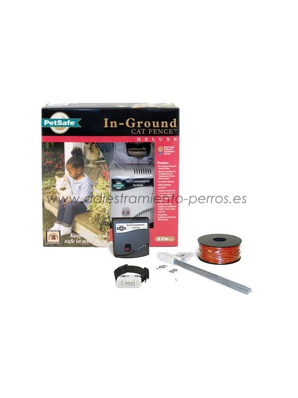 Kit completo de valla invisible Radio-Fence Cat - Valla invisible Radio-Fence Ultralight, para evitar que tu gato se escape del jardín. Especialmente diseñada para gatos.