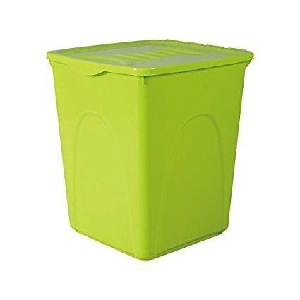 Contenedor de comida Nobleza 44 litros - Contenedor de comida para perros o gatos Nobleza, de color verde, capacidad 44 litros
