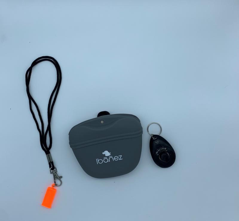 Kit Adiestramiento para perros (silbato-bolsa-clicker)